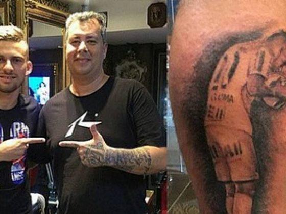 Em 2015, o Santos foi campeão paulista contra o Palmeiras, após disputa de pênaltis. Lucas Lima, que converteu a última e decisiva cobrança do Peixe, tatuou o momento em sua panturrilha. Em 2018, ele assinaria contrato com o Verdão