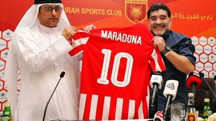 Em 2017, Diego Maradona foi confirmado como treinador do Al-Fuijarah, também dos Emirados Árabes, onde ficou até 2018