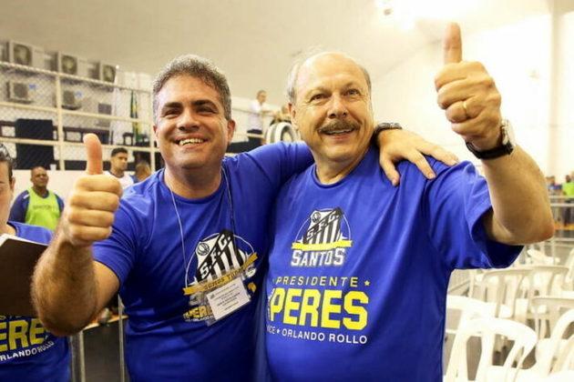Em 2017, José Carlos Peres foi eleito o presidente do Santos, com Orlando Rollo, o seu ex oponente político, como vice. Poucos meses depois da eleição, a dupla rompeu. Rollo pediu afastamento por cerca de um ano e dois processos de impachment foi aberto contra Peres, ambos aceitos pelo Conselho Deliberativo, mas o primeiro foi negado pelos sócios. Em setembro de 2020, Peres foi afastado sob acusações de improbidade administrativa e impedido em novembro, dando o gosto da cadeira presidencial de mão beijada para Rollo, que encerou a gestão.
