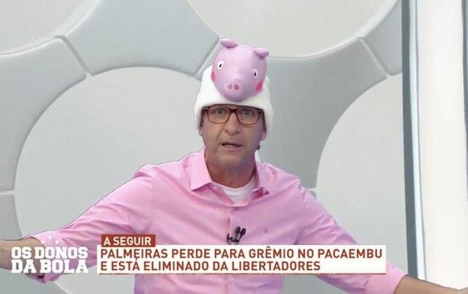 Em 2019, Neto novamente provocou o Palmeiras após o time paulista ser eliminado da Libertadores. O ídolo da Fiel aproveitou o espaço de seu programa para ironizar com um chapéu da personagem infantil Peppa Pig, uma porca, em alusão ao mascote Alviverde.