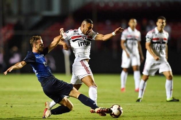 Em 2019, o São Paulo foi eliminado da pré-Libertadores pela primeira vez em sua história. O Tricolor perdeu para o Talleres, da Argentina, por 2 a 0 no jogo de volta e empatou por 0 a 0, no Morumbi.
