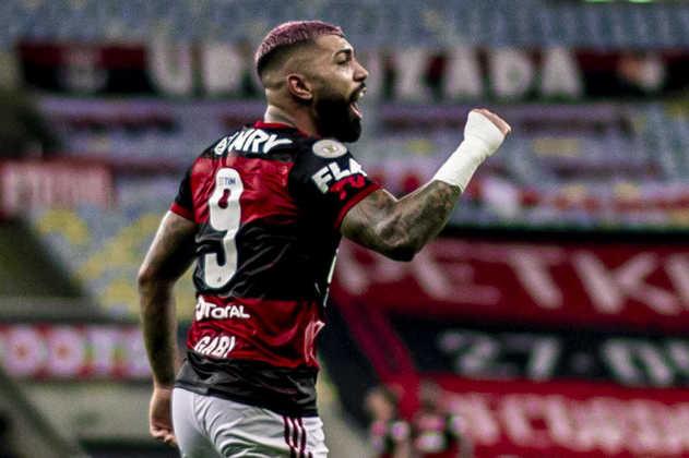 EM ALTA - Gabigol - Atacante - Flamengo - Das últimas sete partidas do Flamengo no Brasileirão 2020, Gabigol marcou em seis jogos, sendo um dos responsáveis pelo título brasileiro da equipe. Com essa marca, será difícil Tite deixá-lo fora da lista.