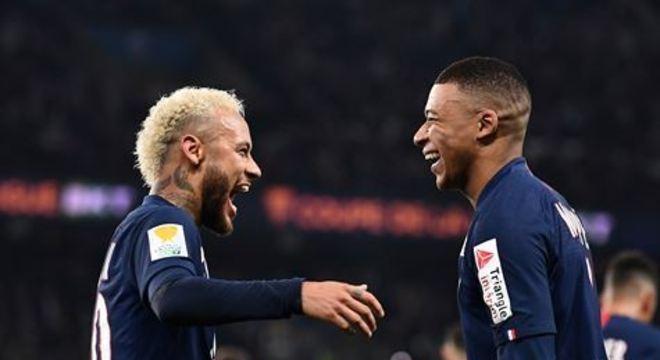 Em dia inspirado, o PSG goleou o Saint-Etienne por 6x1, nesta quarta-feira (8), pela Copa da Liga Francesa