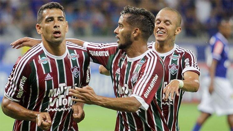 Em duelo na fase de grupos da Primeira Liga de 2016, Diego Souza comandou a vitória por 4 a 3 do Fluminense sobre o Cruzeiro, com três gols marcados e uma assistência