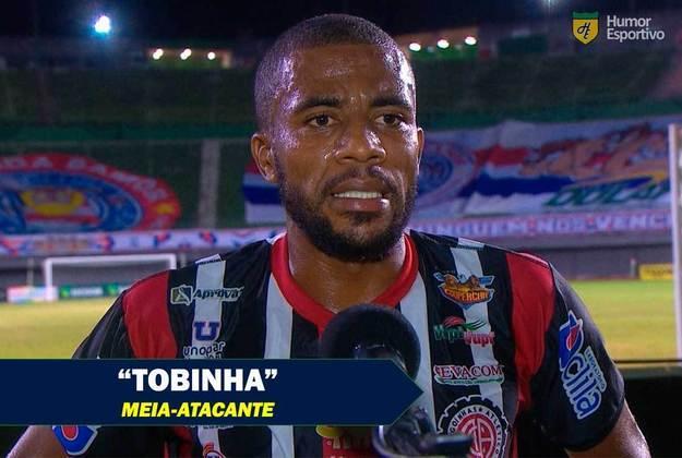 Em entrevista ao canal 'Última Divisão' nesta semana, o jogador Tobinha explicou a origem do seu apelido. Segundo ele, o irmão já era conhecido por