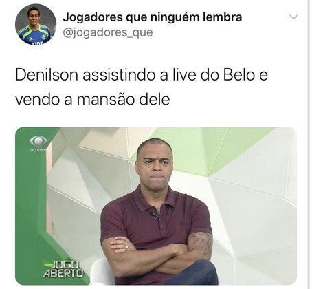 Em meio à pandemia do coronavírus, muitos cantores estão fazendo lives para arrecadar dinheiro para os mais necessitados. É claro que, em uma live do Belo, muitos torcedores não deixariam passar batido e criaram memes envolvendo Denílson.