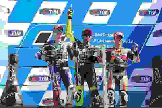 Em Misano, em 2014, Valentino Rossi venceu após seca de um ano e se tornou o piloto com a mais duradoura carreira com vitórias