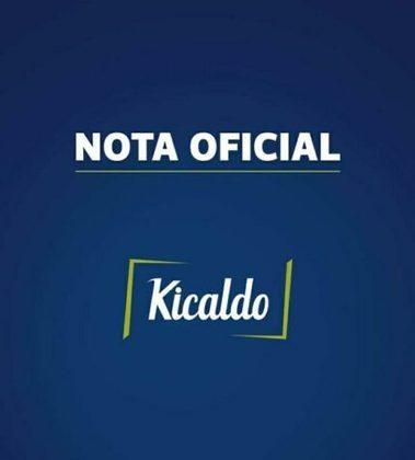 Em nota oficial, a empresa comunicou o Santos que rescindiria com o clube, caso o contrato fosse mantido, mas permanece vinculada após a suspensão contratual de Robinho com o Peixe.