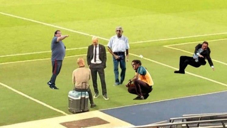 Em seguida, o encontro entre Guardiola e Gordiola: Guto Ferreira entrou na conversa, assim como Cuca e Luxemburgo.