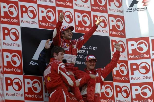 Em sua 14ª corrida, Massa conquistou sua primeira vitória com o time no GP da Turquia