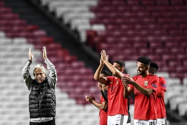Em terceiro lugar está o Benfica, time de Jorge Jesus, que jogará a fase de classificação da Champions League.
