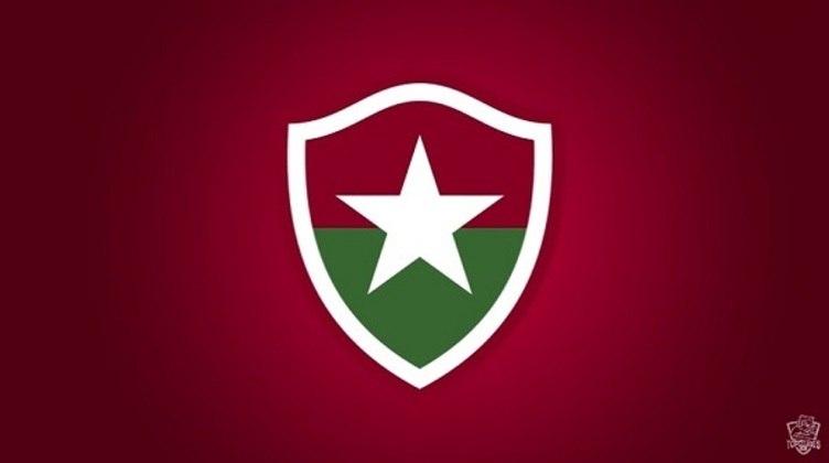Em uma brincadeira antiga, o canal Top Clubes já havia invertido as cores nos escudos de clubes rivais. Na imagem, Botafogo com as cores do Fluminense.