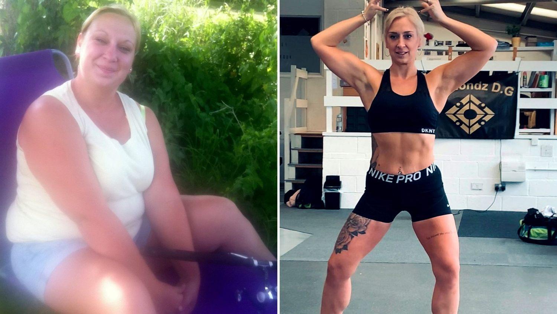 Victoria emagreceu 40 kg e se tornou adepta do fisioculturismo