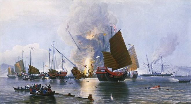 Embarcações na Guerra do Ópio