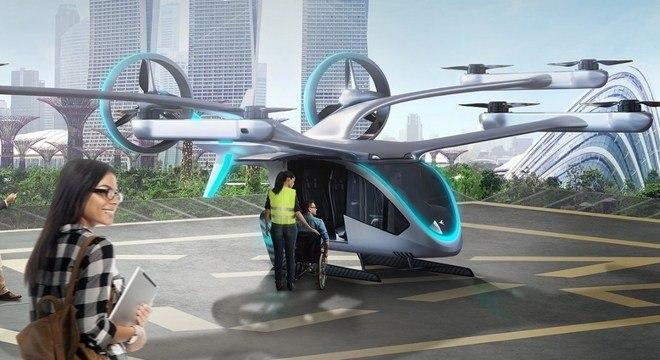 """Carro voador"" da Embraer é desenvolvido junto a aplicativo de carona"