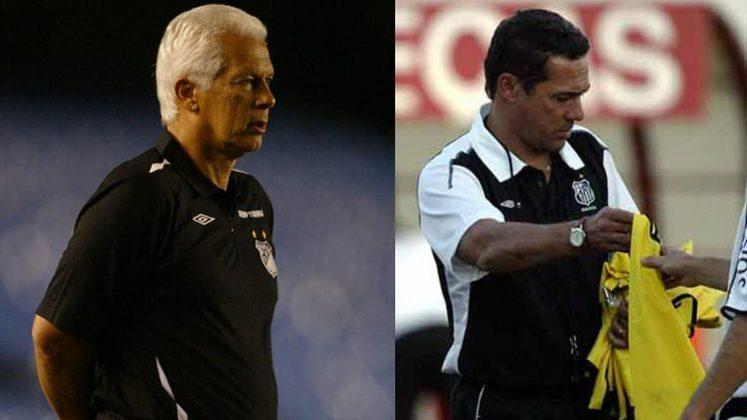 Emerson Leão/Vanderlei Luxemburgo - Santos 2004: o Santos vinha de um bom ano em 2003, visto que havia sido vice-campeão brasileiro e da Libertadores. Em 2004, porém, não começou da melhor maneira. Após uma derrota na Libertadores, Leão entregou o cargo e foi substituído por Vanderlei Luxemburgo, que levou o Peixe ao título do Brasileiro de 2004