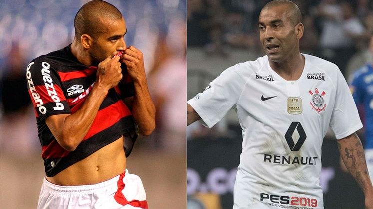 EMERSON SHEIK – No Rubro Negro, Sheik venceu o Campeonato Brasileiro de 2009. Já pelo Corinthians, tornou-se ídolo pelas conquistas da Libertadores e do Mundial, em 2012, e pelos Brasileiros de 2011 e 2015.