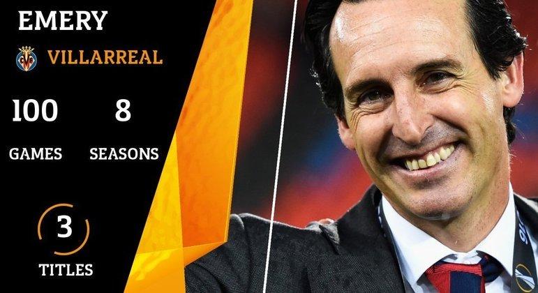 Emery, hoje no Villarreal, três títulos com o Sevilla