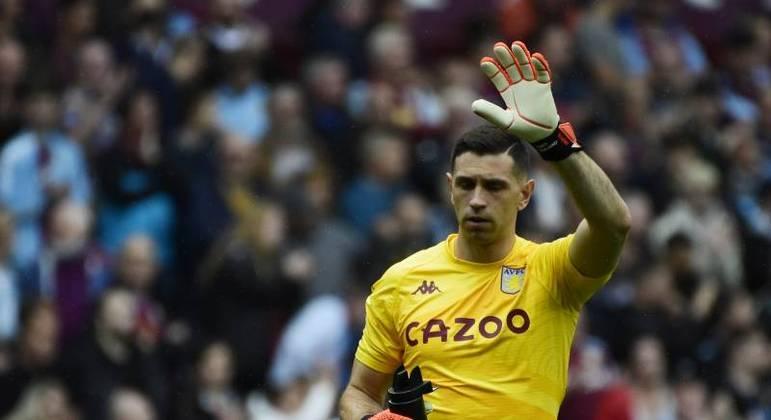 Emiliano Martinez, jogador do Aston Villa, clube da Inglaterra