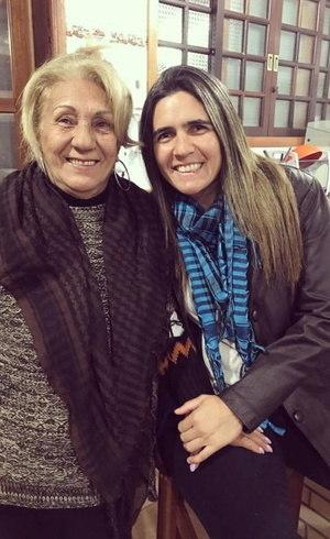 Dona Oneida e Emily Lima
