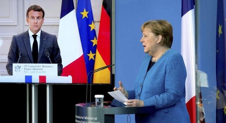 Macron e Merkel cobraram um posicionamento dos EUA e Dinamarca após denúncia