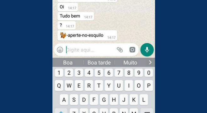 Mensagem com o emoji de esquilo pode travar o celular temporariamente