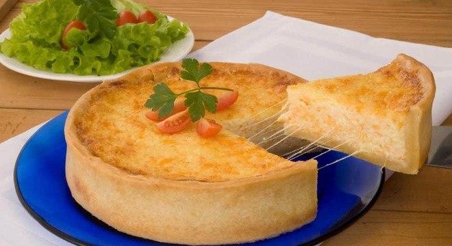 Empadão quatro queijos