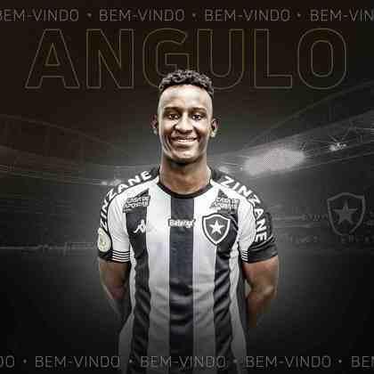 Emprestado pelo Palmeiras, ANGULO só atuou no empate em 0 a 0 do Botafogo com o Cuiabá, pela Copa do Brasil.