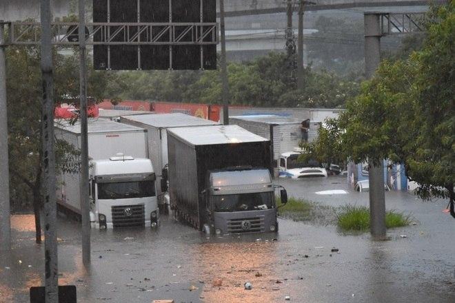 Na madrugada desta segunda-feira (10), uma forte chuva atingiu São Paulo e a Região Metropolitana, provocando alagamentos em vários pontos, desabamentos e quedas de árvores