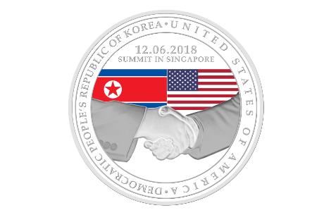 Medalha também mostra aperto de mãos
