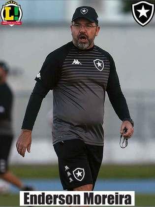 Enderson Moreira - 5,5 - O Botafogo foi bem abaixo de seu nível. Levou muito perigo do adversário e pouco criou. Foi inoperante.