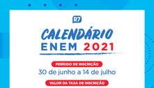 Inscrições para o Enem 2021 terminam nesta quarta-feira