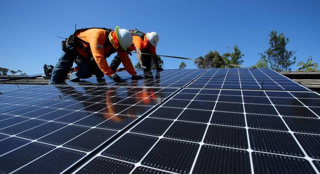 Painéis de energia solar