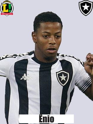 ENIO - 5,0 - Entrou e não contribuiu para retomar o poderio ofensivo esperado do Botafogo.