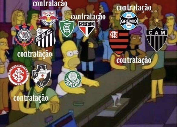 Enquanto rivais como Corinthians, Flamengo e Atlético-MG anunciaram grandes nomes, o Palmeiras não aproveitou oportunidades e acabou sofrendo com brincadeiras dos rivais. Confira na galeria! (Por Humor Esportivo)