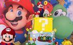 A festa contou com decoração luxuosa inspirada no personagem Mario Bros.