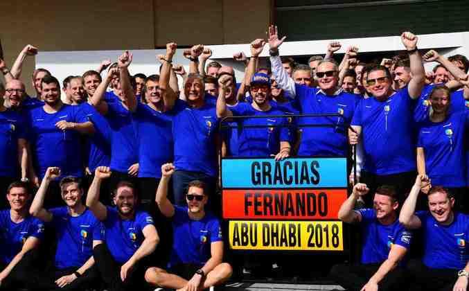 Então, o GP de Abu Dhabi de 2018 marcou a despedida -temporária - de Alonso da F1
