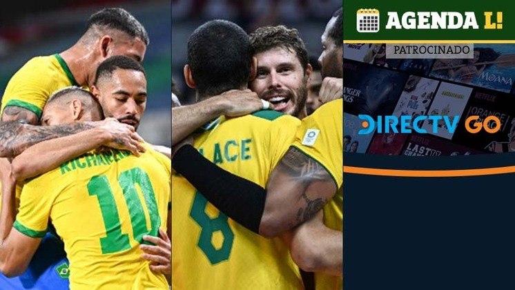 Entre a noite de segunda e a manhã desta terça, o Brasil tem compromissos no futebol, vôlei, vôlei de praia, boxe, vela, atletismo e muito mais. Confira a agenda completa, sempre no horário de Brasília.
