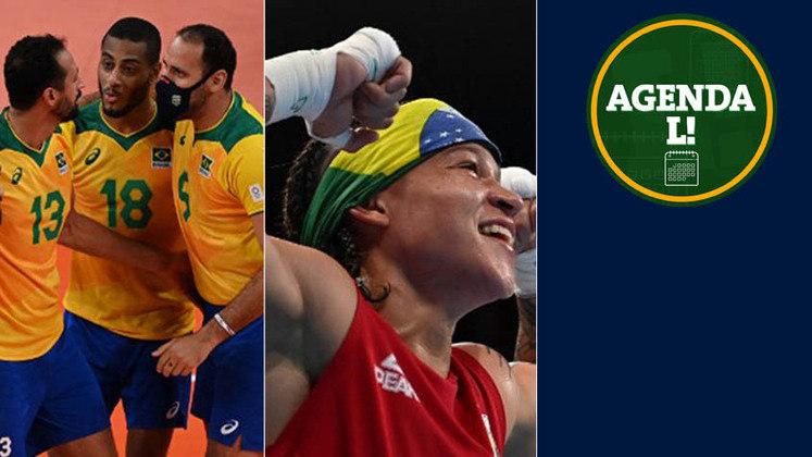Entre a noite desta quarta e a manhã de quinta, o Brasil tem compromissos no vôlei, no boxe, no atletismo e muito mais. Confira a agenda completa, sempre no horário de Brasília.