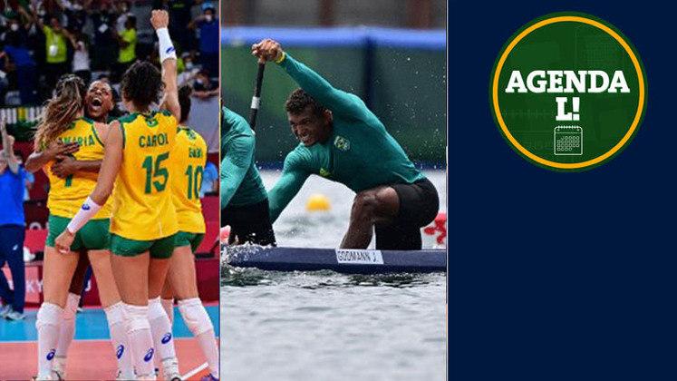 Entre a noite desta quinta e a manhã de sexta, o Brasil tem compromissos no vôlei, atletismo, canoagem velocidade e muito mais. Confira a agenda completa, sempre no horário de Brasília.