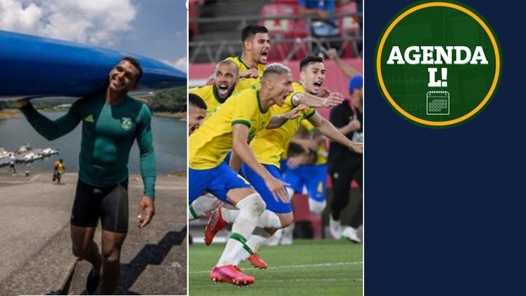 Entre a noite desta sexta e manhã de sábado, o Brasil disputa medalha no futebol, no vôlei, na canoagem, boxe e muito mais. Confira a agenda completa, sempre no horário de Brasília.