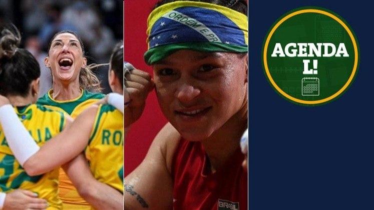 Entre a noite deste sábado e a manhã de domingo, os Jogos Olímpicos chegarão ao fim e o Brasil tem chances de medalha o boxe, no atletismo e no vôlei. Confira a agenda completa, sempre no horário de Brasília.