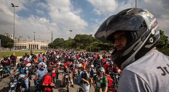 Ato na última sexta-feira (16) reuniu milhares de entregadores em São Paulo