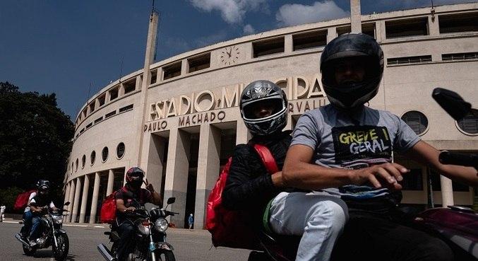 Grupo de motoboys vai se deslocar para o Shopping Internacional de Guarulhos