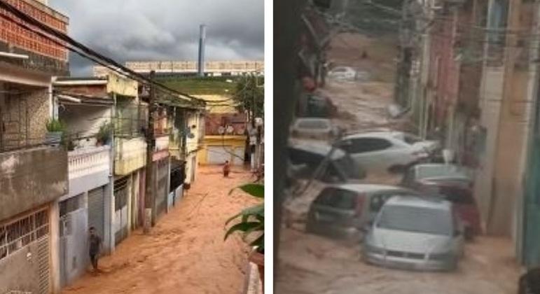 Enxurrada em Cajamar arrastou carros pelas ruas e água tomou conta das vias e casas