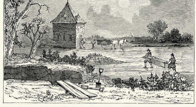 Epidemia de peste bubônica em Londres no século 17 é representada em ilustração