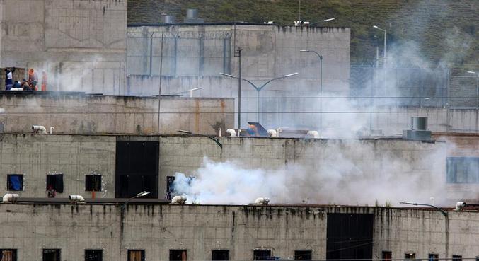 A prisão de El Turi, na província de Azuay, teve a rebelião mais grave
