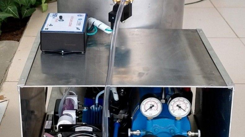 Equipamento de instalação de uma central de descontaminação