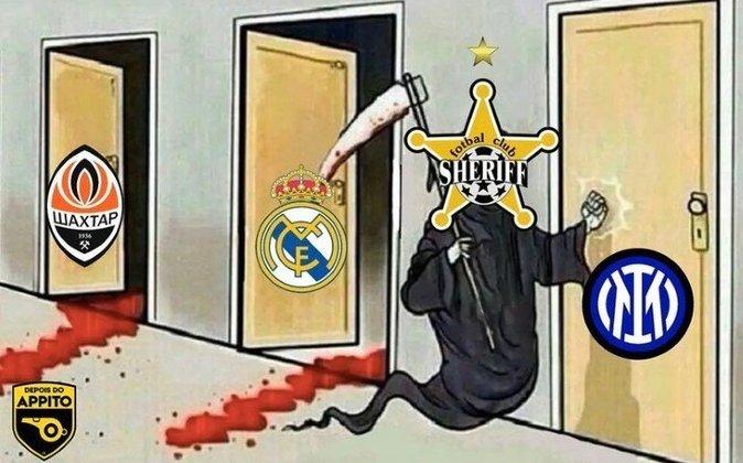 Equipe da Moldávia, que disputa pela primeira vez a Champions League, superou o maior campeão da competição por 2 a 1 e lidera o Grupo D com 6 pontos. Resultado inesperado, dentro do Santiago Bernabéu, rendeu memes entre os fãs de futebol. Confira! (Por Humor Esportivo)