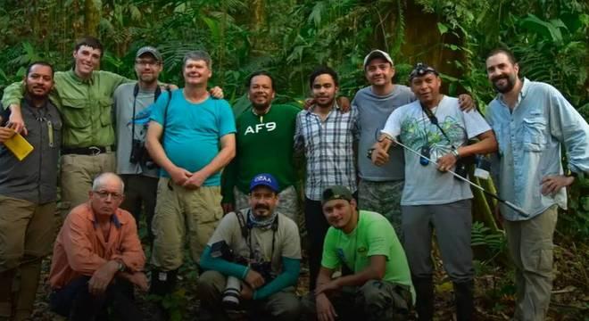 A equipe de pesquisadores passou duas semanas na mata catalogando as espécies